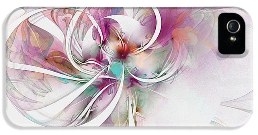 Digital Art IPhone 5 Case featuring the digital art Tendrils 07 by Amanda Moore