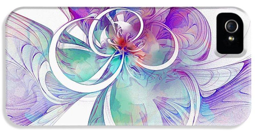 Digital Art IPhone 5 Case featuring the digital art Tendrils 10 by Amanda Moore