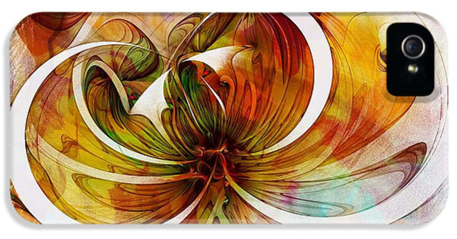 Digital Art IPhone 5 Case featuring the digital art Tendrils 14 by Amanda Moore