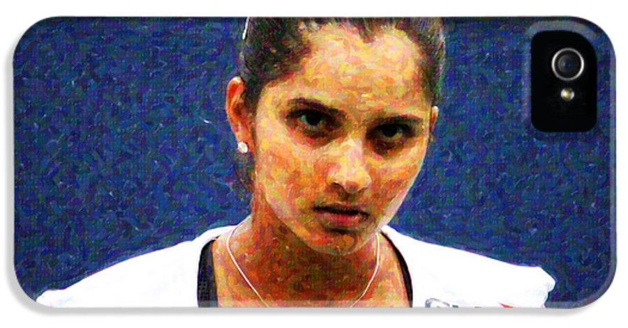 Tennis Player Sania Mirza IPhone 5 Case featuring the photograph Tennis Player Sania Mirza by Nishanth Gopinathan