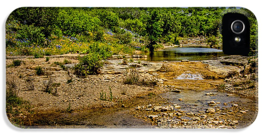 Landscape IPhone 5 Case featuring the photograph Texas Hill Country Stream by David and Carol Kelly