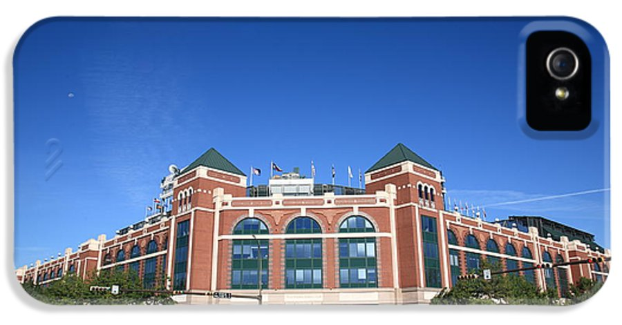 America IPhone 5 Case featuring the photograph Texas Rangers Ballpark In Arlington by Frank Romeo