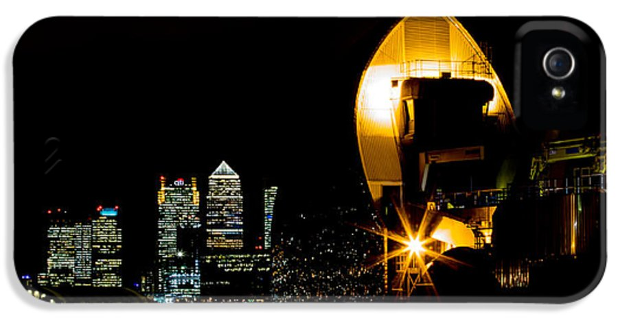 Docklands IPhone 5 Case featuring the photograph Thames Barrier by Dawn OConnor