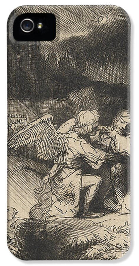 Rembrandt IPhone 5 Case featuring the drawing The Agony In The Garden by Rembrandt