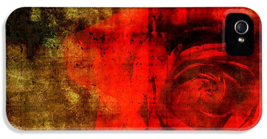 Brett IPhone 5 Case featuring the digital art The Allure Of A Rose by Brett Pfister