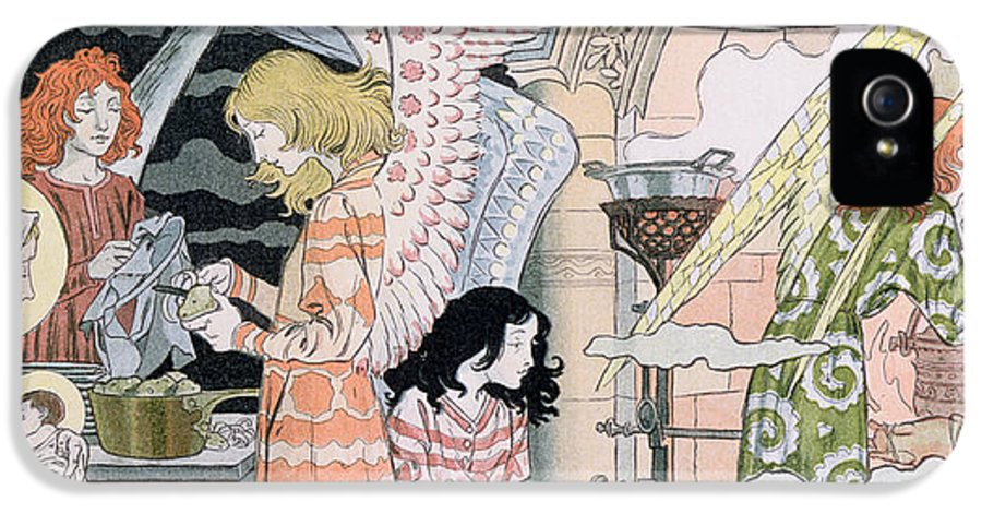 Angels IPhone 5 Case featuring the painting The Angels Kitchen by Eugene Grasset