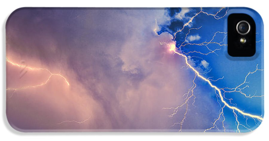 Thunder God IPhone 5 Case featuring the photograph The Arrival Of Zeus by Jonathan Davison
