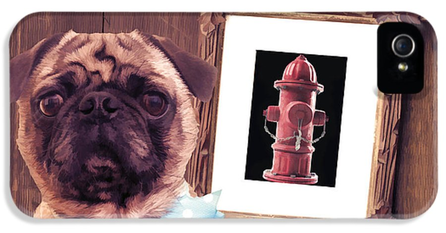 Pug IPhone 5 Case featuring the photograph The Artist And His Masterpiece by Edward Fielding