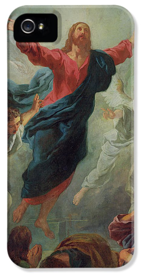 The Ascension IPhone 5 Case featuring the painting The Ascension by Jean Francois de Troy