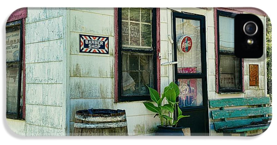 Paul Ward IPhone 5 Case featuring the photograph The Barber Shop From A Different Era by Paul Ward