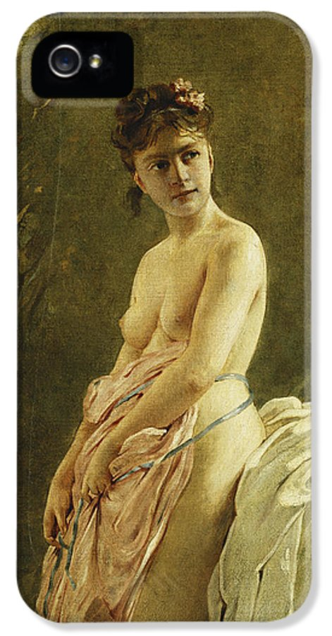 Academic IPhone 5 Case featuring the painting The Bather by Charles Chaplin
