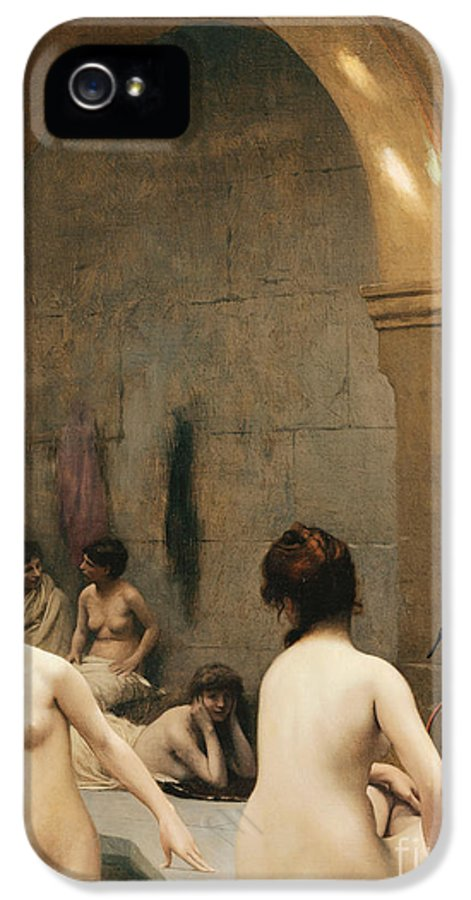Academic IPhone 5 Case featuring the painting The Bathers by Jean Leon Gerome
