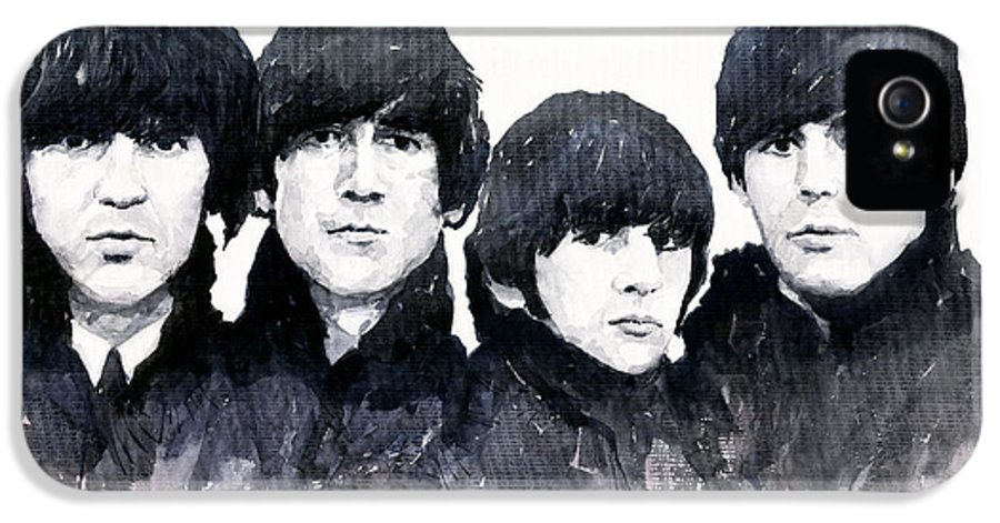 Watercolour IPhone 5 Case featuring the painting The Beatles by Yuriy Shevchuk