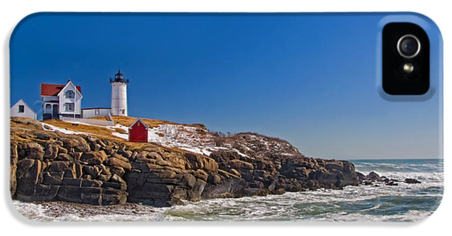 Water IPhone 5 Case featuring the photograph The Beauty Of Nubble by Joann Vitali