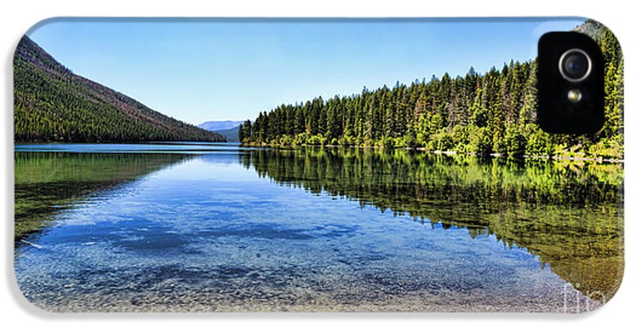 Kintla Lake IPhone 5 Case featuring the photograph The Best Beach In Glacier National Park Panorama 2 by Scotts Scapes