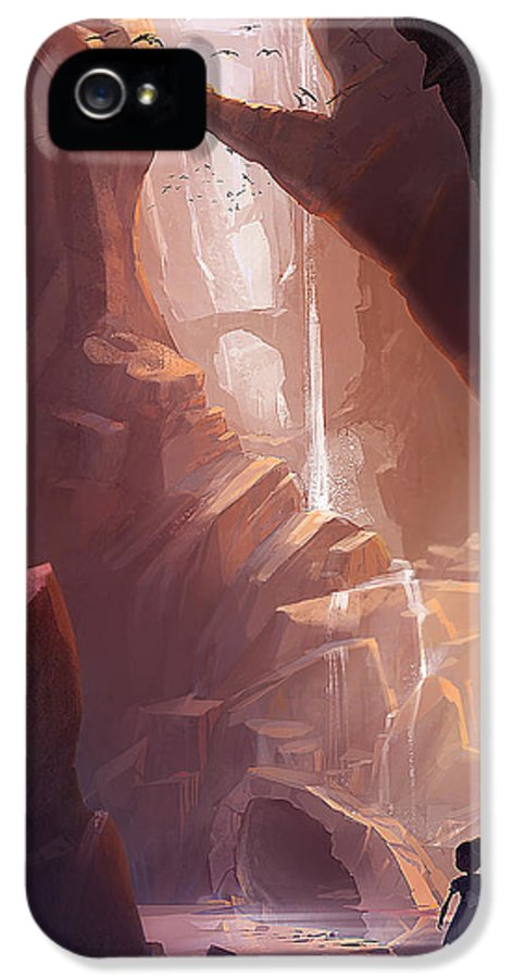 Canyon IPhone 5 Case featuring the painting The Big Friendly Giant by Kristina Vardazaryan