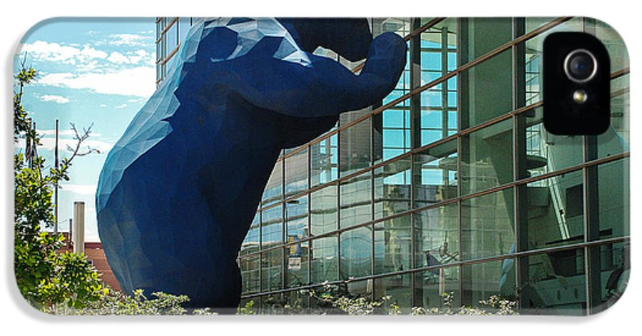 Denver IPhone 5 Case featuring the photograph The Blue Bear by Dany Lison