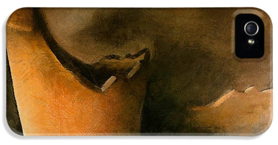 Pot IPhone 5 Case featuring the painting The Broken Terracotta Pot by Michelle Calkins