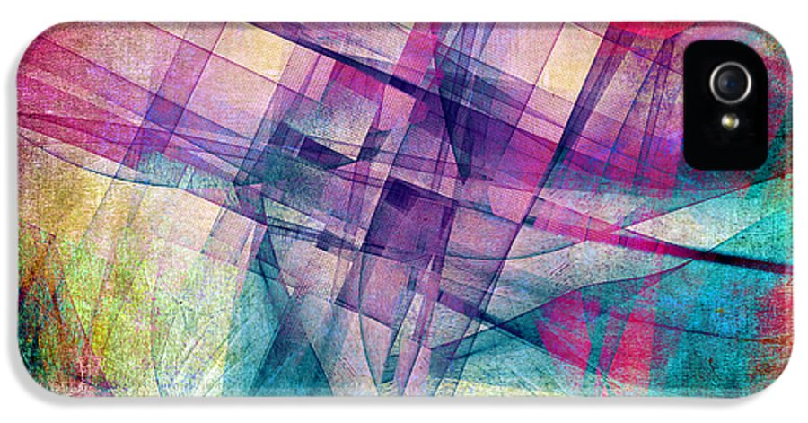 Buildings Block IPhone 5 Case featuring the digital art The Building Blocks by Angelina Vick