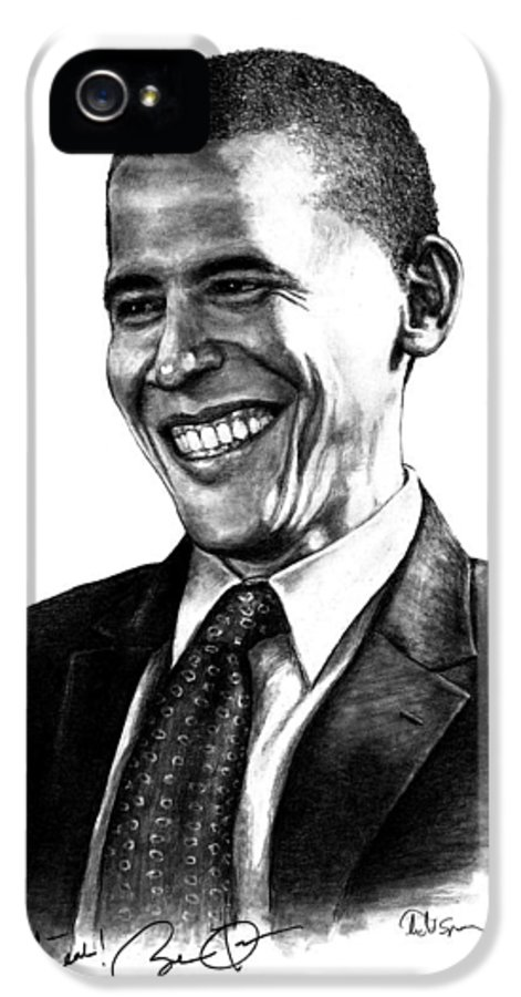President IPhone 5 Case featuring the drawing The Candidate by Todd Spaur