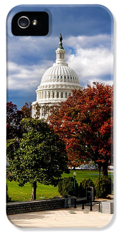 Arlington Cemetery IPhone 5 Case featuring the photograph The Capitol by Greg Fortier