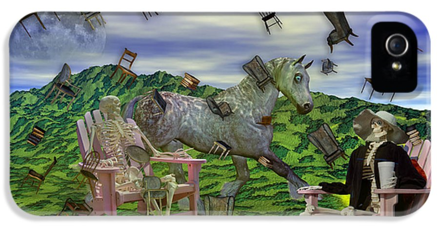 The IPhone 5 Case featuring the mixed media The Chairs Of Oz by Betsy Knapp