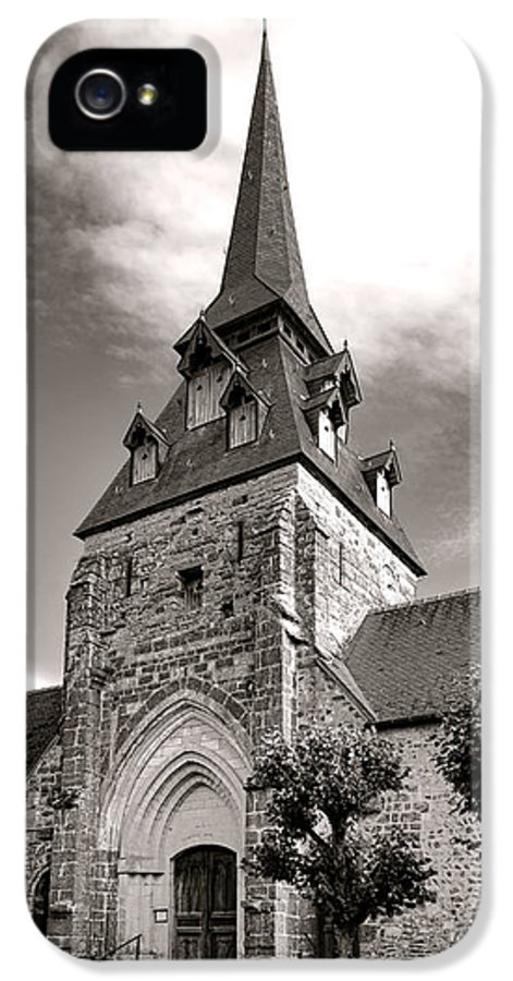 France IPhone 5 Case featuring the photograph The Church With The Dormers On The Steeple by Olivier Le Queinec