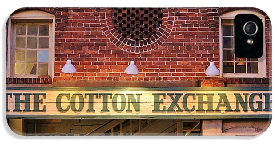 Cotton Exchange IPhone 5 Case featuring the photograph The Cotton Exchange by Cynthia Guinn