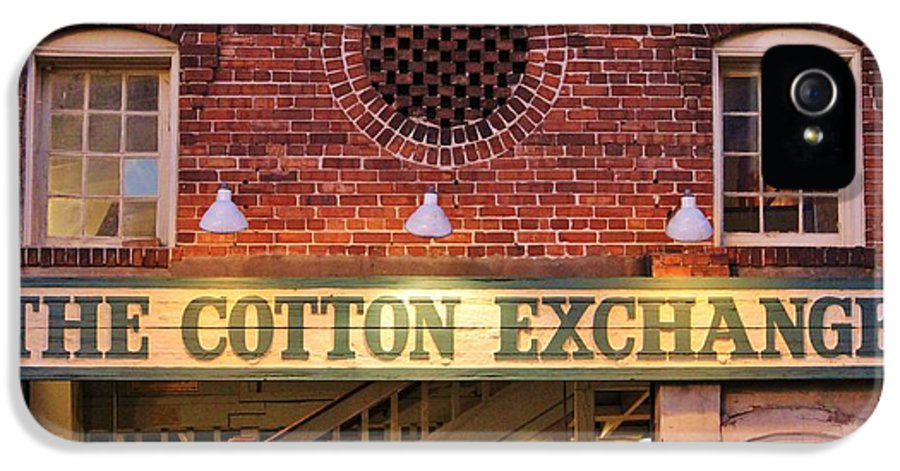 Cotton Exchange IPhone 5 / 5s Case featuring the photograph The Cotton Exchange by Cynthia Guinn