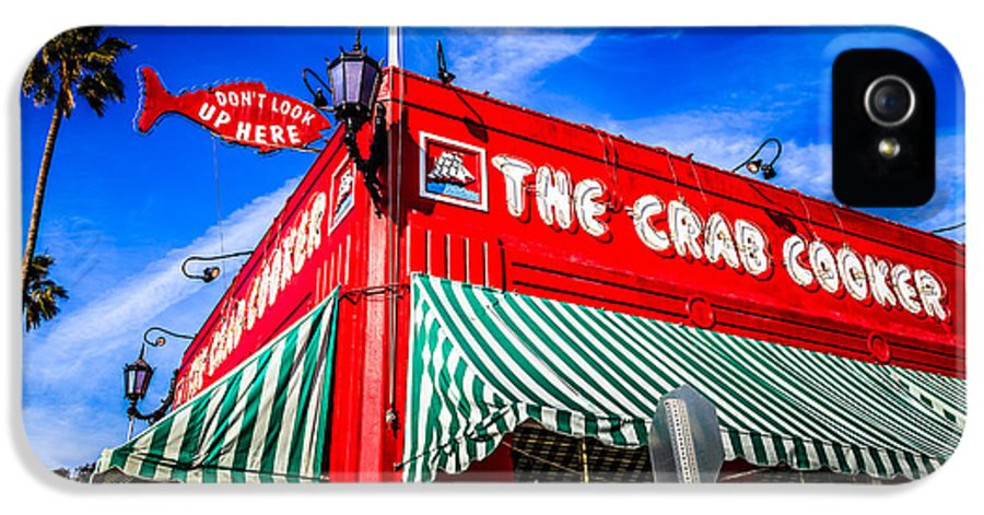 America IPhone 5 Case featuring the photograph The Crab Cooker Newport Beach Photo by Paul Velgos