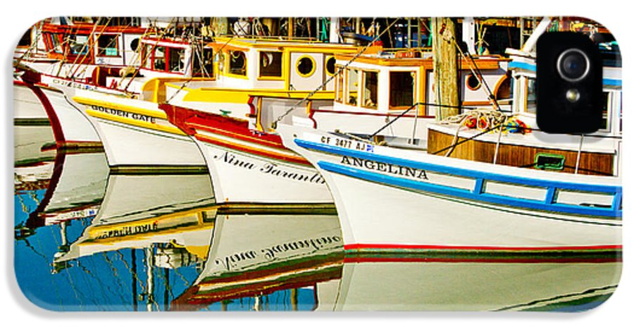 Crab Fleet IPhone 5 Case featuring the photograph The Crab Fleet by Bill Gallagher