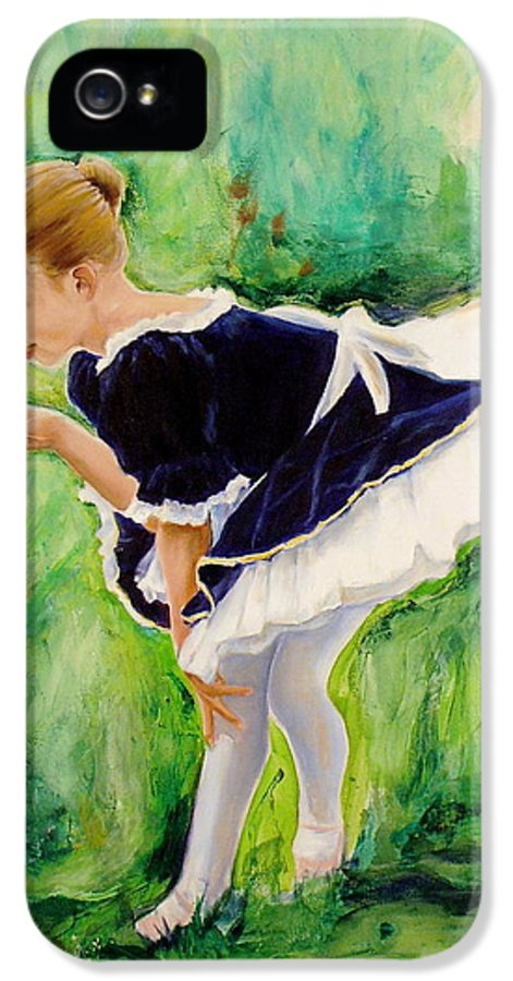Dancer IPhone 5 Case featuring the painting The Dancer by Sheila Diemert