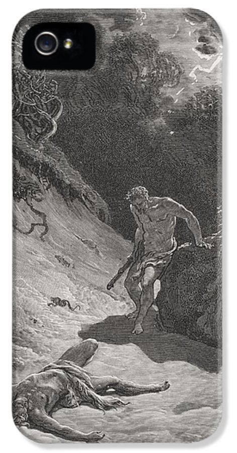 Cain IPhone 5 Case featuring the painting The Death Of Abel by Gustave Dore
