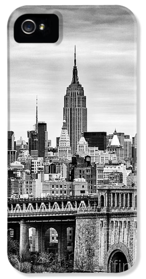 New York Canvas IPhone 5 Case featuring the photograph The Empire State Building by John Farnan