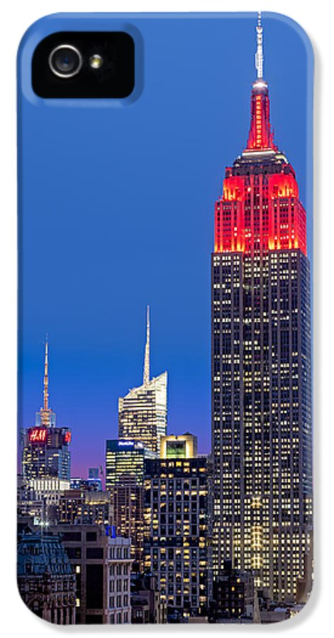 America IPhone 5 Case featuring the photograph The Empire State Building by Susan Candelario