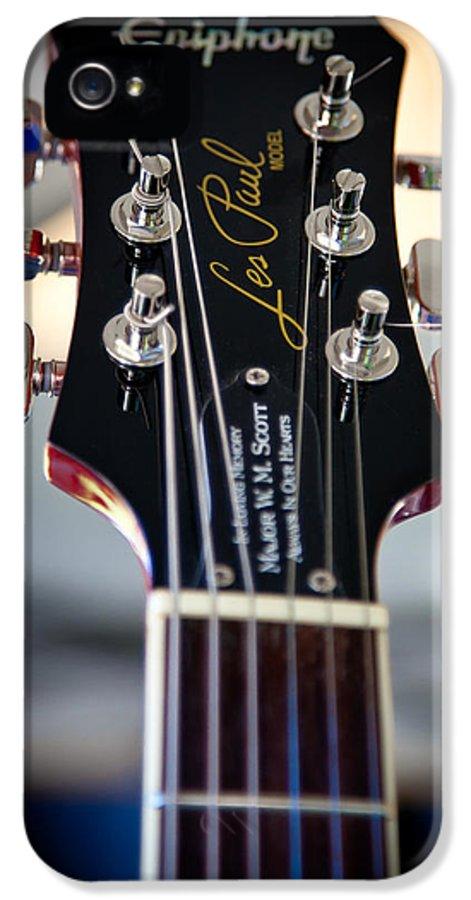 The Epiphone Les Paul Guitars IPhone 5 Case featuring the photograph The Epiphone Les Paul Guitar by David Patterson
