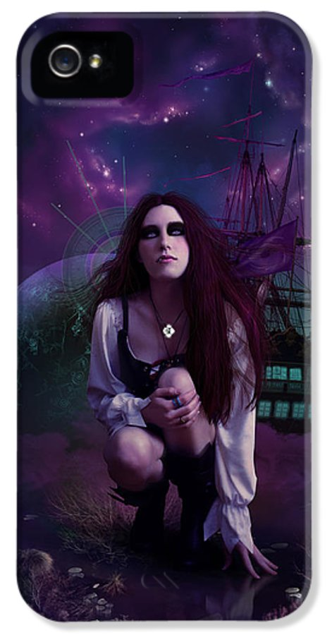 Fantasy IPhone 5 Case featuring the digital art The Explorer by Cassiopeia Art