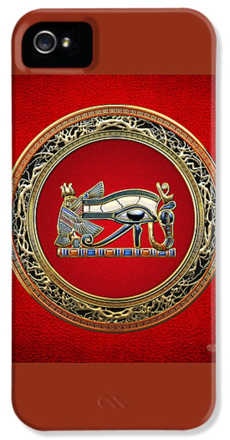 'treasure Trove' Collection By Serge Averbukh IPhone 5 Case featuring the digital art The Eye Of Horus by Serge Averbukh