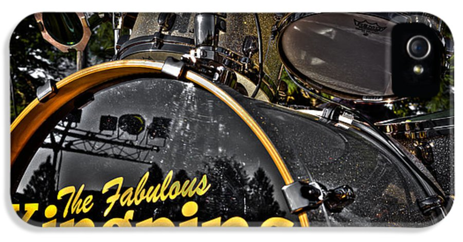 The Kingpins IPhone 5 Case featuring the photograph The Fabulous Kingpins Drums by David Patterson