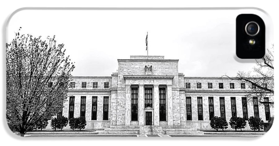 Washington IPhone 5 Case featuring the photograph The Federal Reserve by Olivier Le Queinec