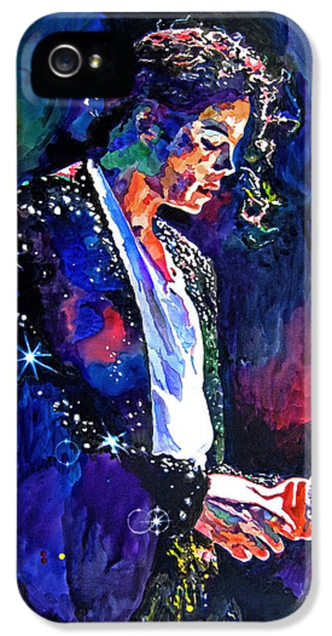 Michael Jackson IPhone 5 Case featuring the painting The Final Performance - Michael Jackson by David Lloyd Glover