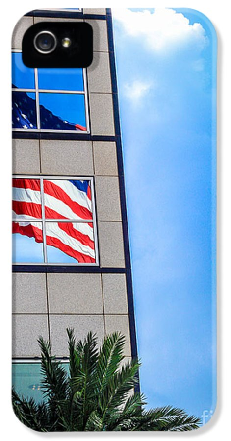 American Flag IPhone 5 Case featuring the photograph The Flag That Never Hides by Rene Triay Photography