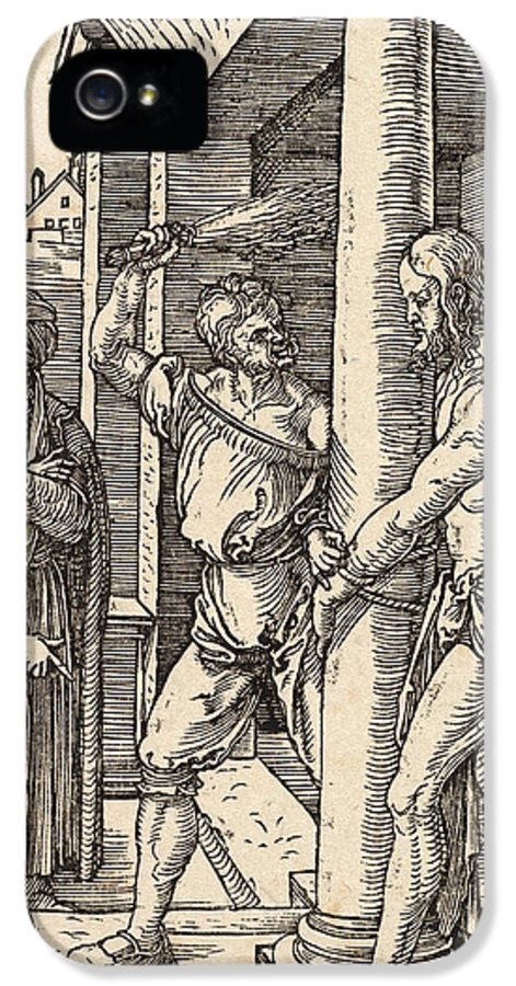Son Of God IPhone 5 Case featuring the painting The Flagellation by Albrecht Durer