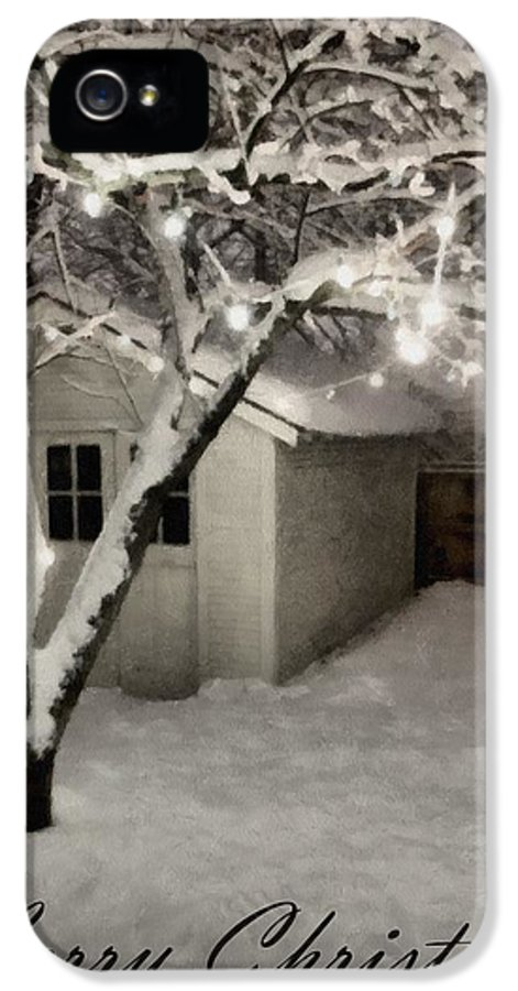 Garage IPhone 5 Case featuring the photograph The Garden Sleeps by Michelle Calkins