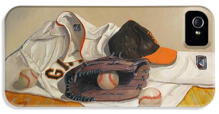 San Francisco Giants Painting IPhone 5 Case featuring the painting The Giant Sleeps Tonight by Ryan Williams