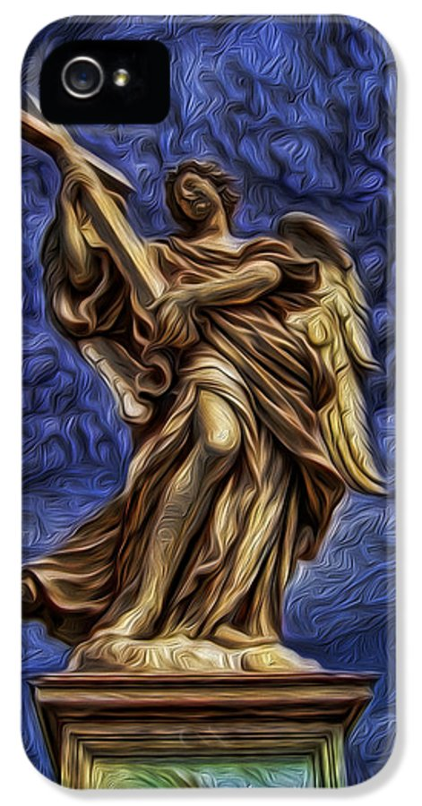 Saint Charles Bridge IPhone 5 / 5s Case featuring the photograph The Golden Angel by Lee Dos Santos