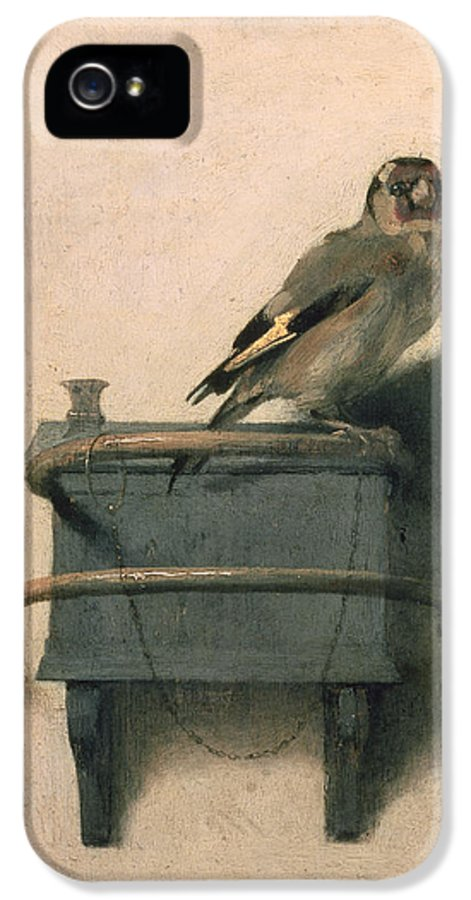 Bird IPhone 5 Case featuring the painting The Goldfinch by Carel Fabritius