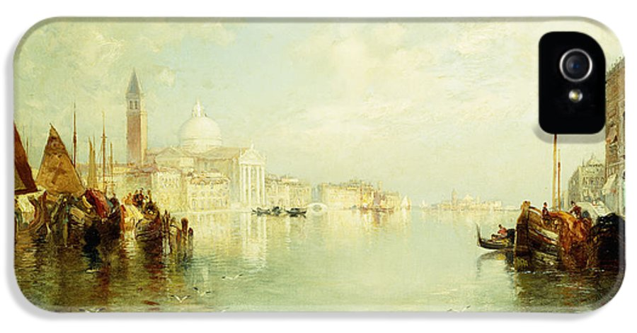 The Grand Canal IPhone 5 Case featuring the painting The Grand Canal by Thomas Moran