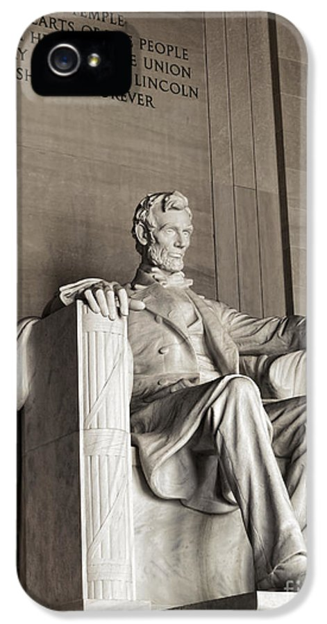 United IPhone 5 Case featuring the photograph The Great Emancipator by Olivier Le Queinec