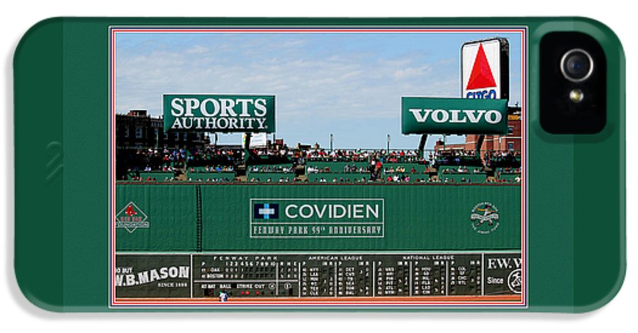 Tom Prendergast Travel Destination America IPhone 5 Case featuring the photograph The Green Monster Fenway Park by Tom Prendergast